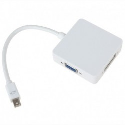 Adaptador Mini Displayport Thunderbolt a HDMI VGA y DVI Macbook Pro mini dp