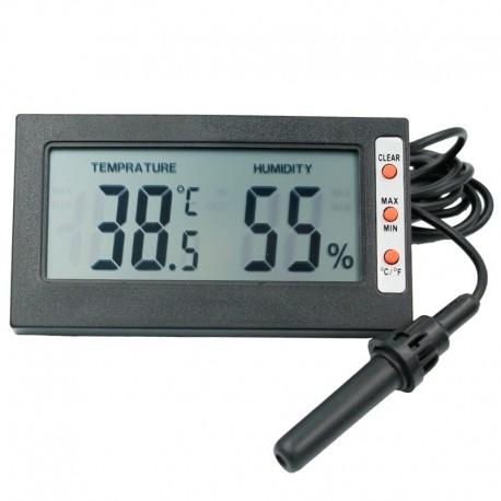 Termómetro e Higrómetro Digital con Memoria Temperatura Mínima y Máxima