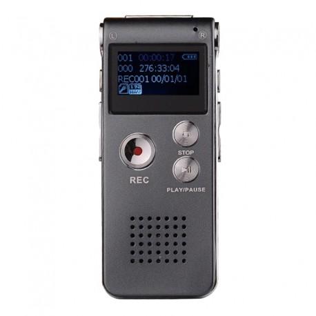 Grabadora Digital de Voz Reproductor Mp3 8GB 550 Horas