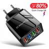 Cargador Rápido USB 3 Puertos 5V 3.1A + Puerto Quick Charge 3.0