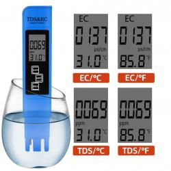 Medidor TDS y EC Conductividad Calidad Temperatura del agua 3 En 1