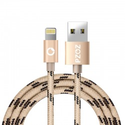 Cable Lightning PZOZ Gold para Iphone de un metro
