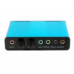 Tarjeta de Sonido Externa USB 5.1 Canales In Out Digital Óptica